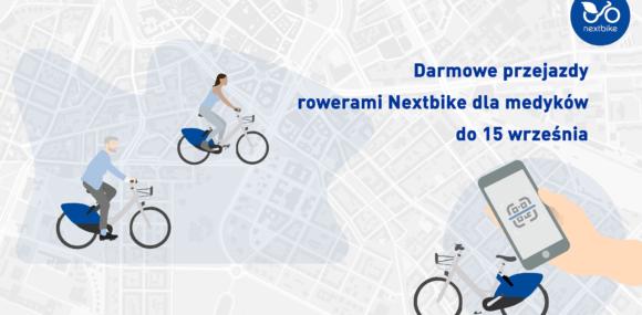 (Polski) Darmowe przejazdy rowerami Nextbike dla medyków do połowy września!
